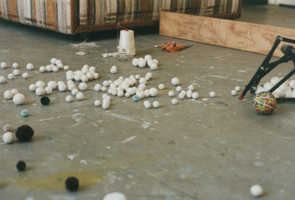 6. String Balls being made in the studio